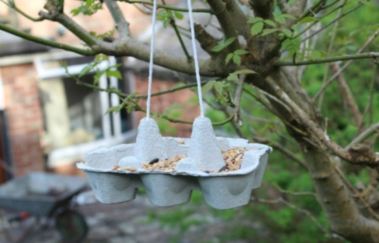 Bird Feeder Egg Cartons We Love It When All Kinds Of Different Birds Visit Our Garden In Spring Time Do You Want To Feed The Birds In Your Garden In An