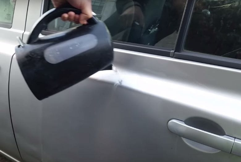 This is why you should try pouring boiling water onto your car
